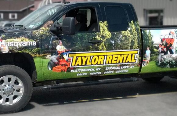 Taylor Rental Vehicle Wrap