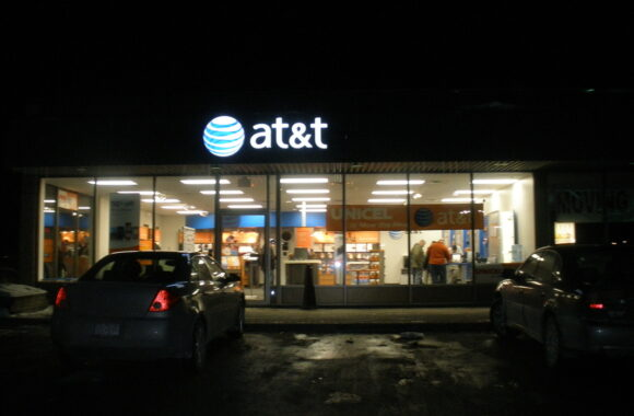 AT&T SIGN BY DANIELS SIGNS