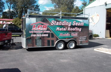 Lake Champlain Roofing Job Site Trailer Wrap