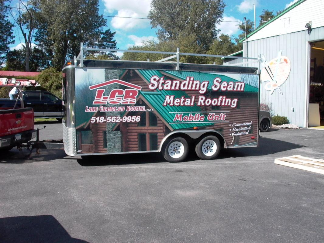 Lake Champlain Roofing Job Site Trailer Wrap