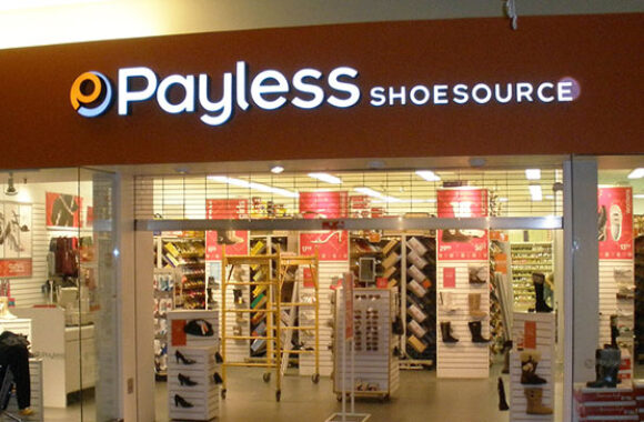 Payless Shoes Storefront Sign